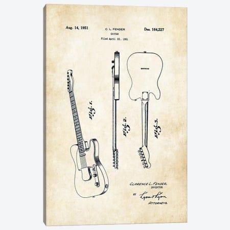 Fender Telecaster (1951) Canvas Print #PTN101} by Patent77 Canvas Artwork