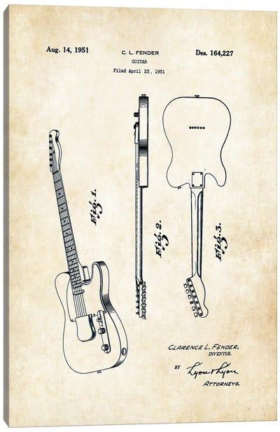 Fender Telecaster (1951) Canvas Art Print