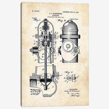 Fire Hydrant Canvas Print #PTN104} by Patent77 Art Print