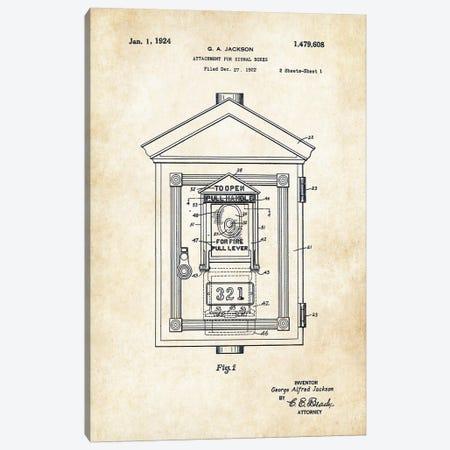 Fire Signal Box Canvas Print #PTN105} by Patent77 Canvas Print