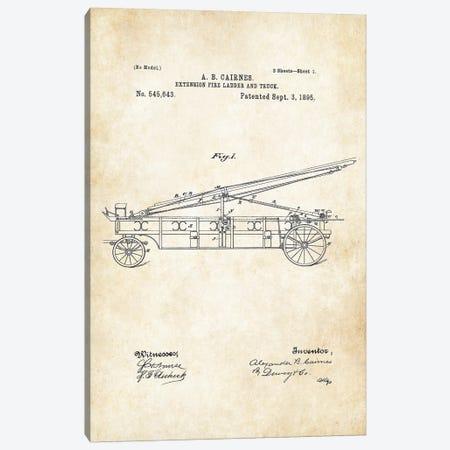 Fire Truck Canvas Print #PTN106} by Patent77 Art Print