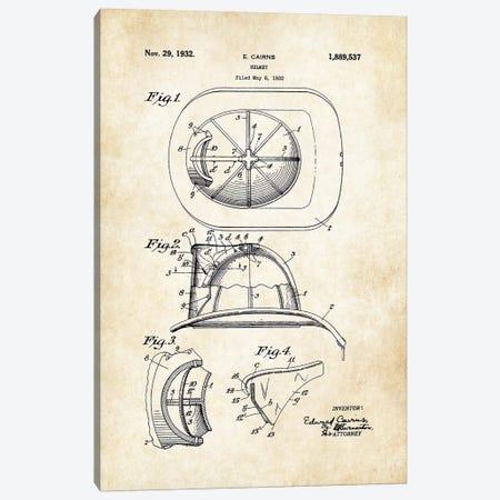 Firefighter Helmet Canvas Print #PTN109} by Patent77 Canvas Wall Art