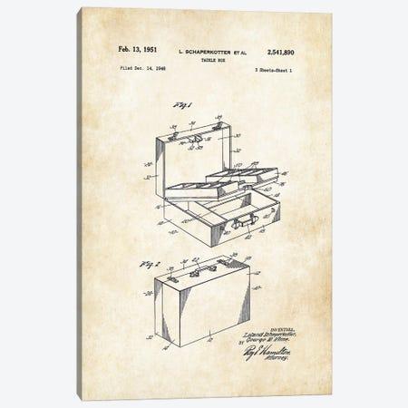 Fishing Tackle Box Canvas Print #PTN113} by Patent77 Art Print