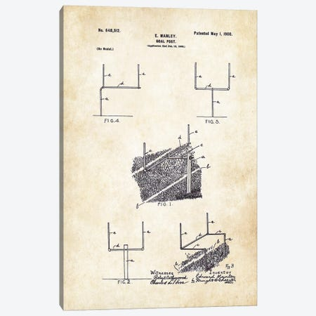 Football Goal Post Canvas Print #PTN116} by Patent77 Canvas Artwork