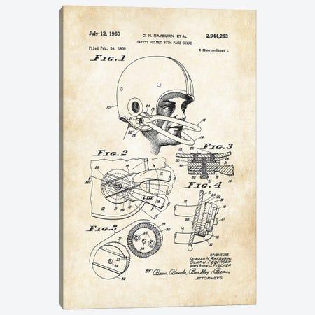 Football Helmet Canvas Print #PTN117} by Patent77 Canvas Artwork