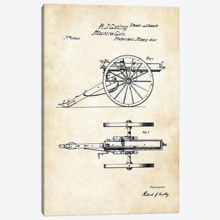 Gatling Machine Gun (1865) Canvas Print #PTN122} by Patent77 Canvas Artwork