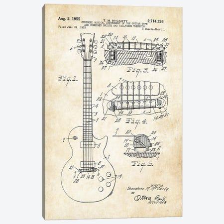 Gibson Les Paul Guitar (1955) Canvas Print #PTN123} by Patent77 Canvas Art