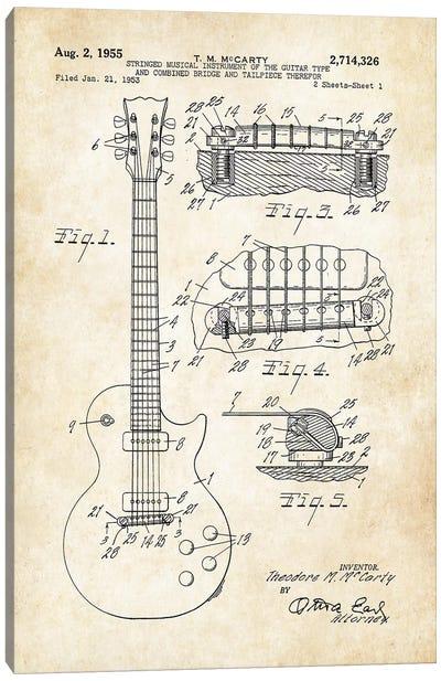 Gibson Les Paul Guitar (1955) Canvas Art Print