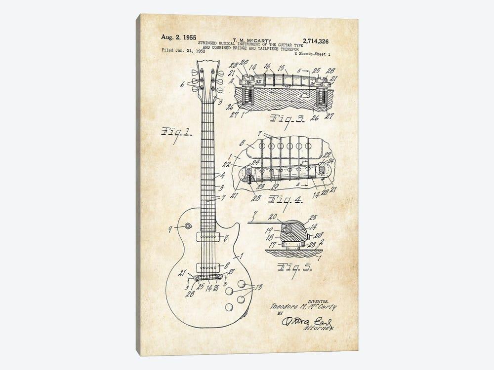 Gibson Les Paul Guitar (1955) by Patent77 1-piece Art Print