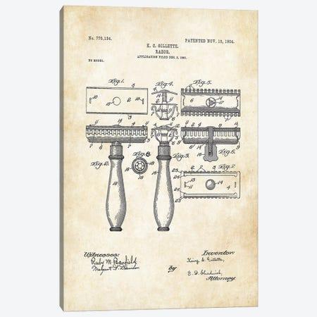 Gillette Razor Blade Canvas Print #PTN125} by Patent77 Art Print