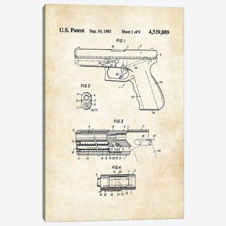 Glock Pistol Canvas Print #PTN126} by Patent77 Art Print