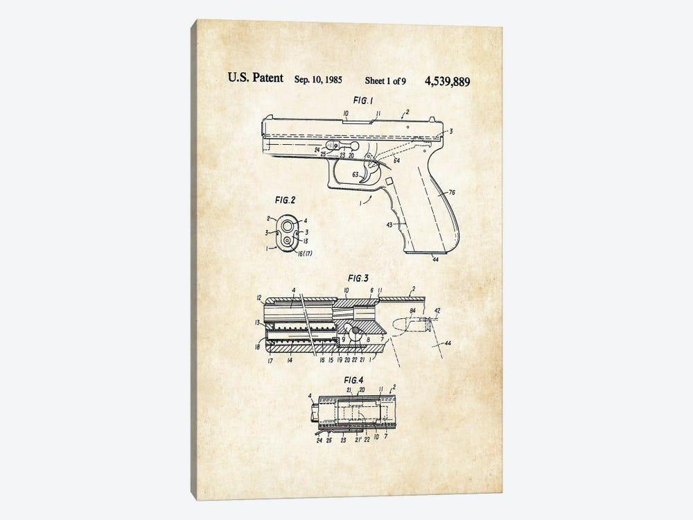 Glock Pistol by Patent77 1-piece Canvas Art