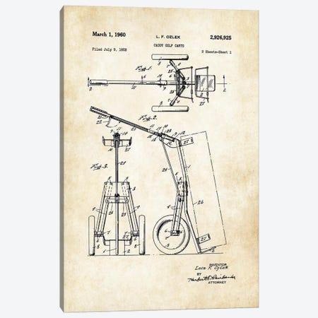 Golf Caddy Cart Canvas Print #PTN128} by Patent77 Canvas Artwork