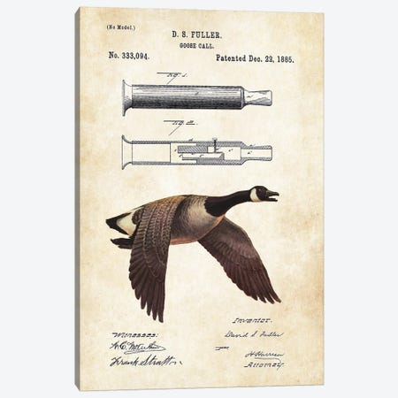 Goose Call Canvas Print #PTN131} by Patent77 Canvas Art Print