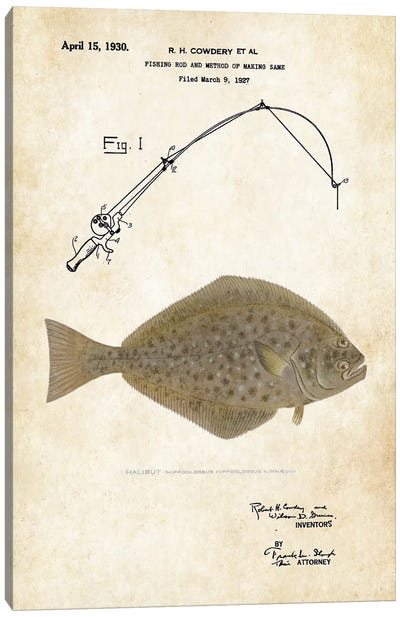 Halibut Fishing Lure Canvas Art Print