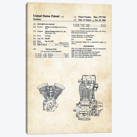 Harley Davidson Evolution Engine Canvas Print #PTN135} by Patent77 Canvas Wall Art