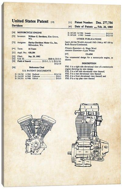 Harley Davidson Evolution Engine Canvas Art Print