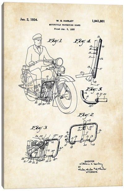 Harley Davidson Motorcycle (1934) Canvas Art Print