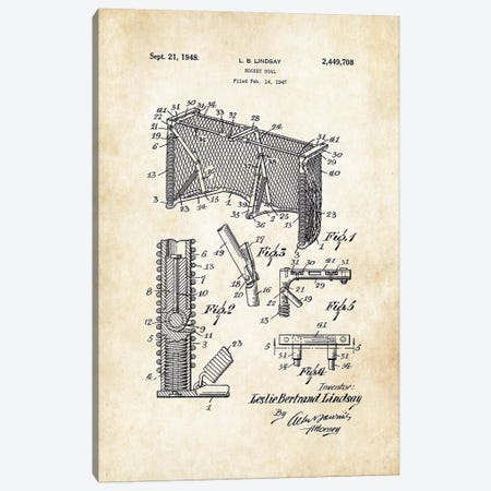 Hockey Goal Canvas Print #PTN147} by Patent77 Canvas Art Print