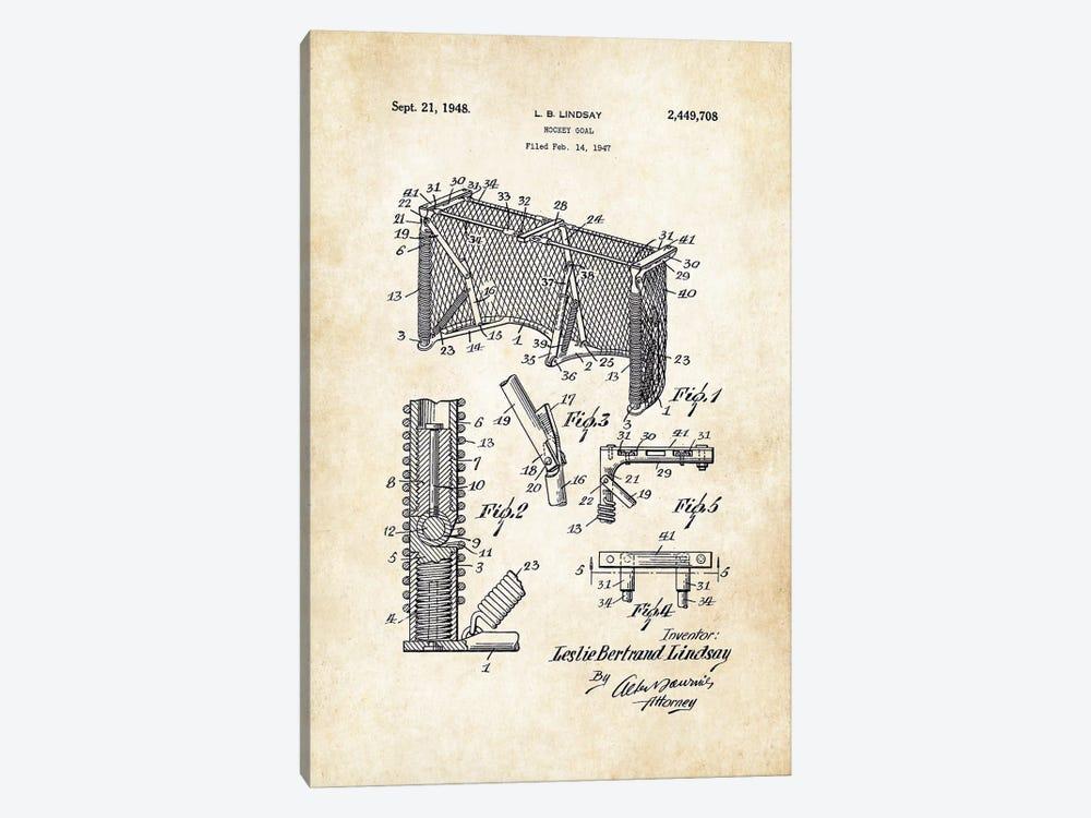 Hockey Goal by Patent77 1-piece Canvas Art Print