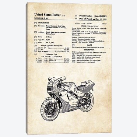 Honda Motorcycle Canvas Print #PTN148} by Patent77 Canvas Wall Art