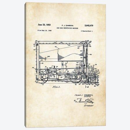 Ice Hockey Zamboni  Canvas Print #PTN152} by Patent77 Canvas Print