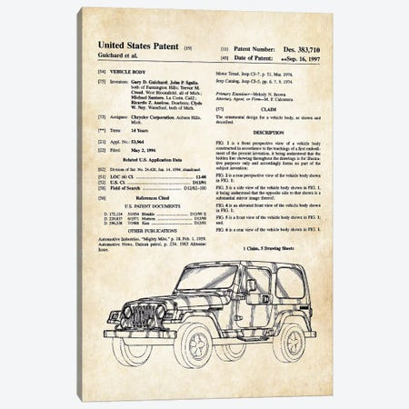 Jeep Wrangler Canvas Print #PTN159} by Patent77 Canvas Print