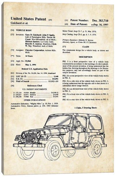 Jeep Wrangler Canvas Art Print