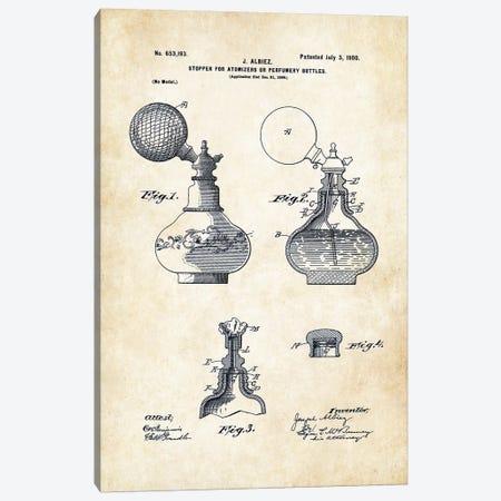 Antique Perfume Bottle Canvas Print #PTN15} by Patent77 Canvas Art Print