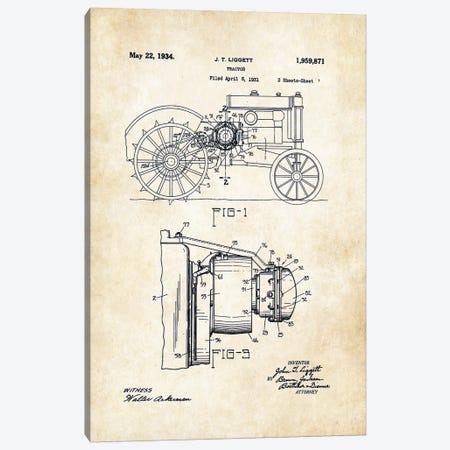John Deere Tractor (1934) Canvas Print #PTN162} by Patent77 Canvas Art