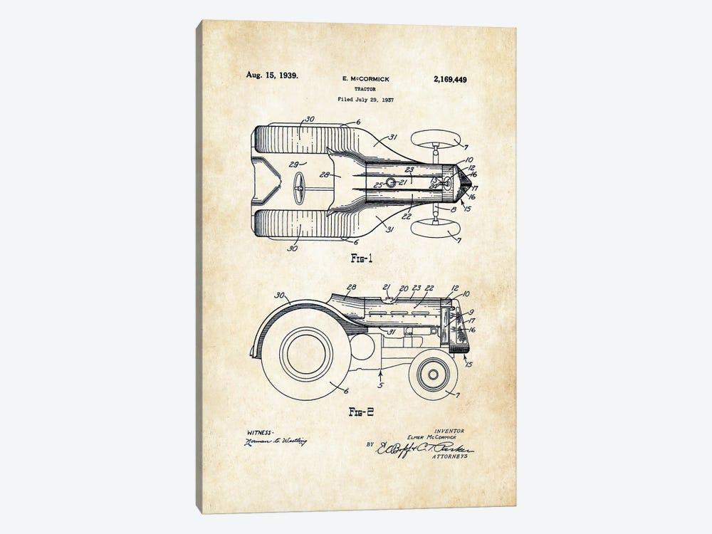 John Deere Tractor (1939) by Patent77 1-piece Art Print