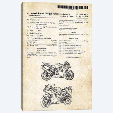Kawasaki Ninja Motorcycle Canvas Print #PTN164} by Patent77 Art Print