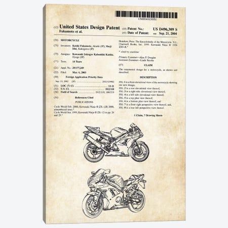 Kawasaki Ninja Motorcycle Canvas Print #PTN164} by Patent77 Art Print