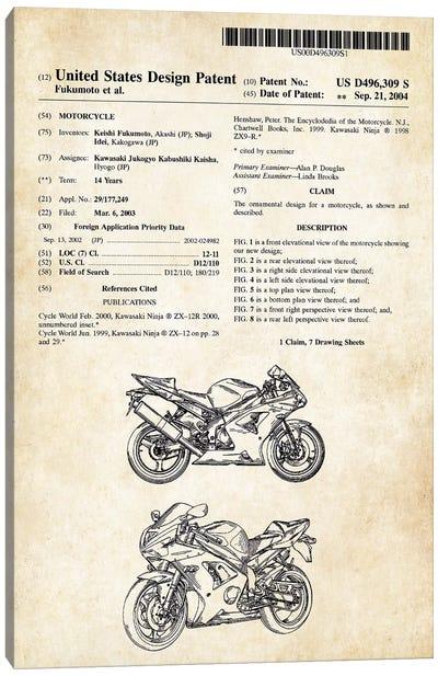 Kawasaki Ninja Motorcycle Canvas Art Print