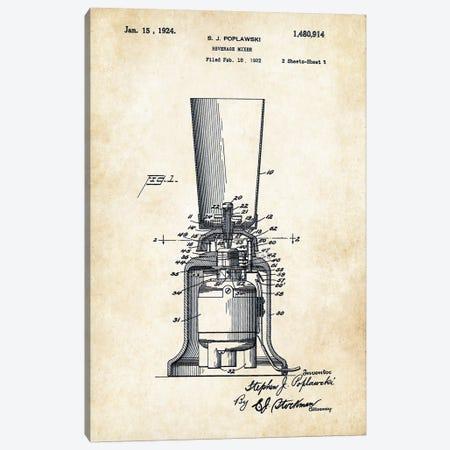 Kitchen Blender (1924) Canvas Print #PTN165} by Patent77 Art Print