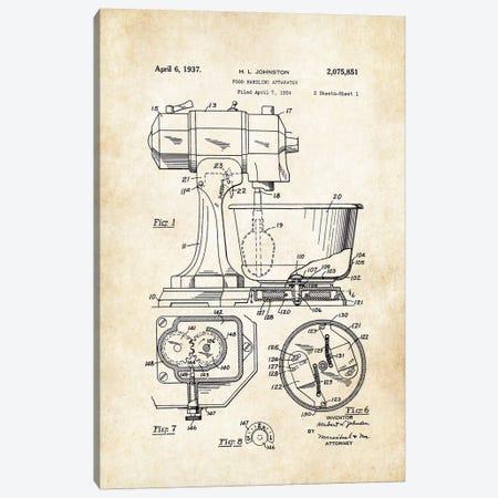 Kitchen Mixer Canvas Print #PTN166} by Patent77 Canvas Art Print