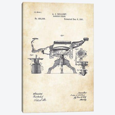 Kochs Barber Chair (1891) Canvas Print #PTN167} by Patent77 Art Print