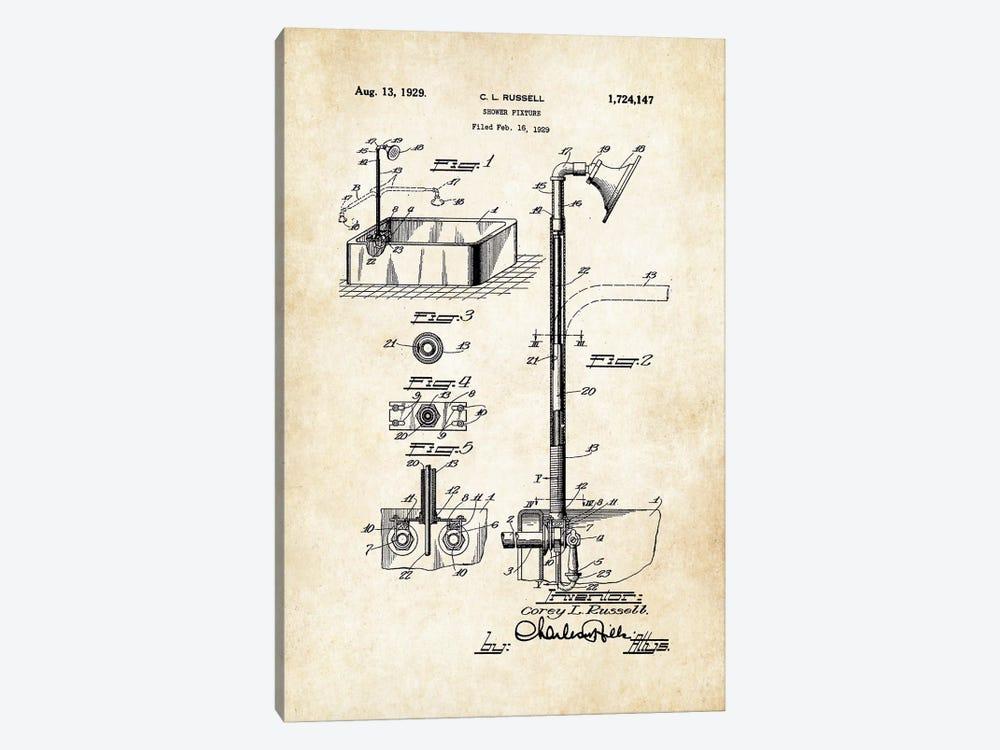 Antique Shower by Patent77 1-piece Canvas Artwork