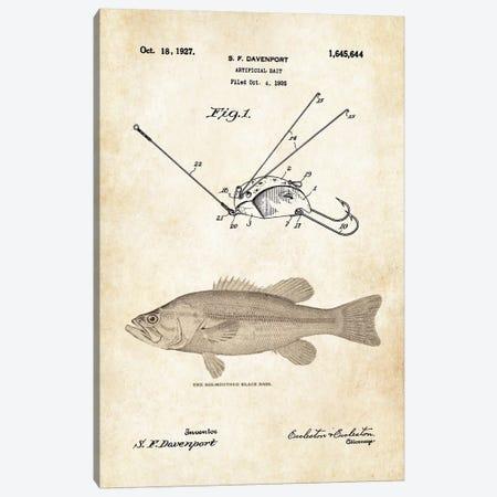 Largemouth Bass Fishing Lure Canvas Print #PTN170} by Patent77 Art Print