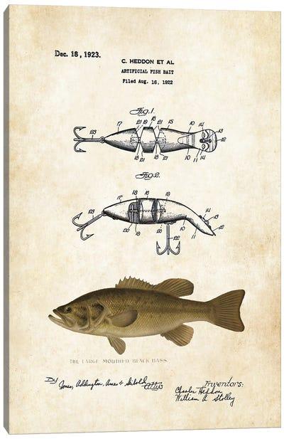 Largemouth Bass Fishing Lure Canvas Art Print