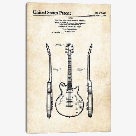Les Paul Guitar (ES-335) Canvas Print #PTN173} by Patent77 Canvas Print