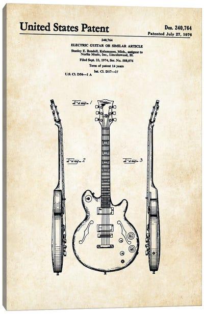 Les Paul Guitar (ES-335) Canvas Art Print