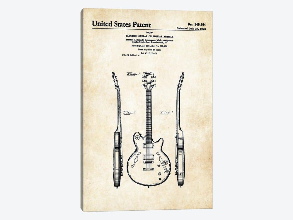 Les Paul Guitar (ES-335) by Patent77 1-piece Canvas Art