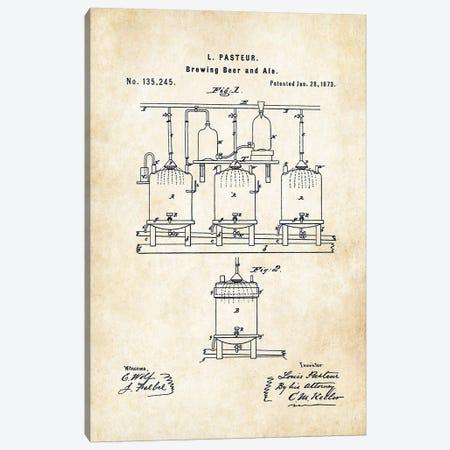 Louis Pasteur Beer Brewing Canvas Print #PTN176} by Patent77 Canvas Artwork