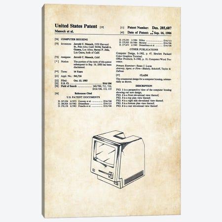 Apple Macintosh Computer Canvas Print #PTN17} by Patent77 Art Print