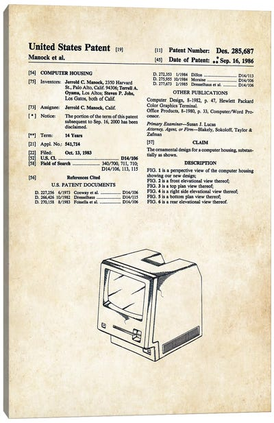 Apple Macintosh Computer Canvas Art Print
