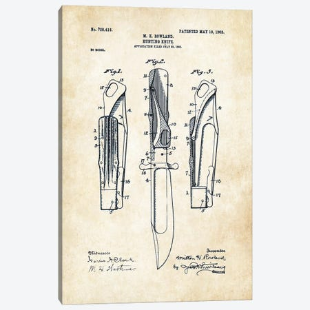 Marble's Safety Folding Knife Canvas Print #PTN181} by Patent77 Canvas Artwork