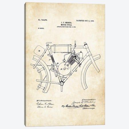 Merkel Motorcycle (1903) Canvas Print #PTN183} by Patent77 Canvas Artwork