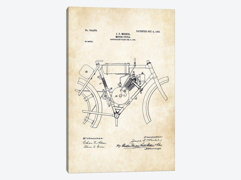 Merkel Motorcycle (1903) by Patent77 1-piece Art Print