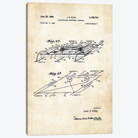 Microchip Canvas Print #PTN185} by Patent77 Canvas Art Print